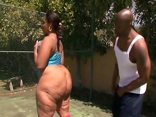 Large Black Booty Bouncing On Dick Two