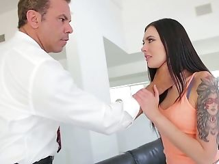 Whorish Assistant Marley Brinx Gets Her Sphincter Fucked In The Office