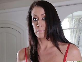 Beautiful Lacey Channing Fellates Strap On Dildo Threadbare By Torrid Milfie Sexpot