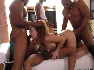 Milky Cutie Natasha Nice Invites A Few Black Neighbors For Un-fucking-real Interracial Gang-bang