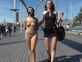 Spanish Chick Nikki Litte Gets Her Muff Pounded In Public Place