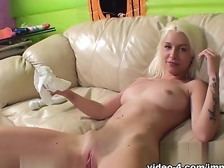 Exotic Pornographic Star Stevie Shae In Greatest Fuck Sticks/playthings, Blonde Adult Scene