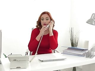Sandy-haired Mummy Assistant Eva Berger Fucks Her Manager In The Office