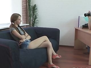 Tricky Agent - Christi - A Skinny Sandy-haired Is Anxious To Be Fucked!
