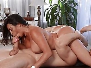 Rubdown Turns Into A Wild Fuck For The Big Arse Wifey On Fire