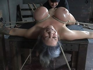 Brief Haired Matures Huge-titted Bitch Alyssa Lynn Ties Herself Up For Molestation