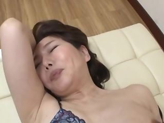 Chesty Japanese Black-haired Mummy Ono Sachiko Fucked Clothed