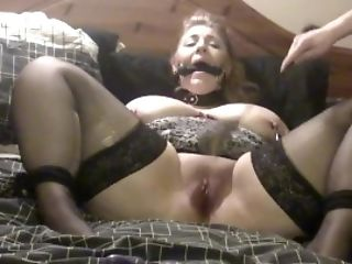 Elle Moon Bbw With Sick Boy Mitts Tied To Ankles And Fuck Stick Fucked Kittling