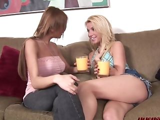 Gorgeous Blonde Angie Eaten Out By Pervy Lezzy Honey