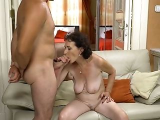Old Whore Fairy Gets Intimate With One Youthfull Dude Living Nextdoor