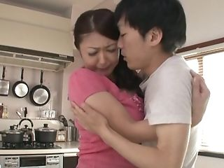 Asian Wifey With  Big Melons Getting Her Face Fucked In The Kitchen
