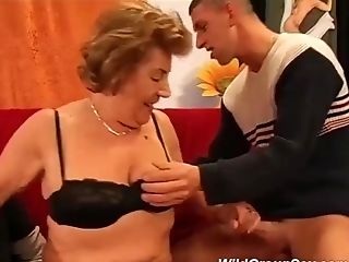 Moms Very First Gang-fuck Orgy