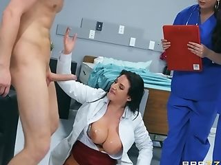 Sexy Medic Angela Milky Trains Her Students All About Hard Lovemaking