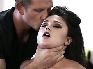Wild Sporty Whore Ariana Marie Gets Aggressively Fucked By Two Excited Studs